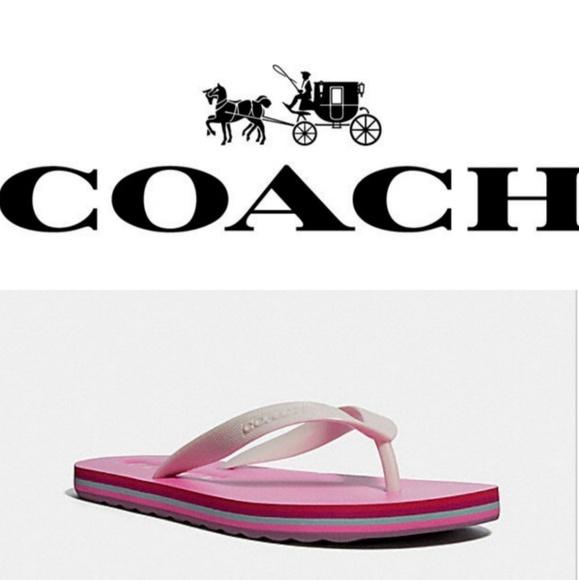 79cd155b26e925 Authentic Coach flip flops.
